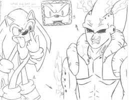 sonic and super buu by SONICJENNY