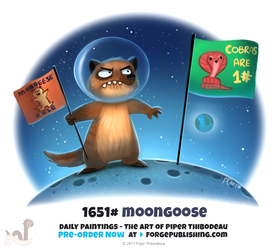 Daily Painting 1651# - Moongoose by Cryptid-Creations