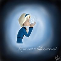 Elsa-Do you want to build a snowman? by KaybuscusCappius