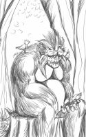 Daily Sketch: Kind Hearted Monster by Hunchy