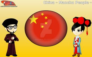Chibi Manchu People, China - Animondos by Dougieus