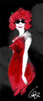 Lady in red by Zolw-blotny