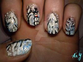 Winter Nail Design by AnyRainbow