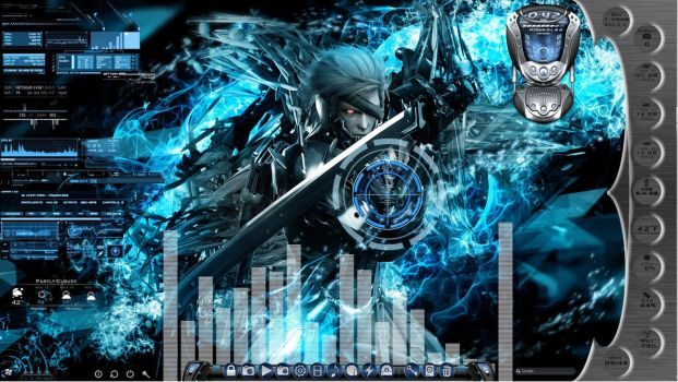 Metal Gear Rising Animated Desktop for Rainmeter by ionstorm01