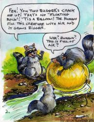Raccoons 2 by Inflato-Phraggle