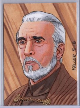 Count Dooku ACEO by Rathskeller7
