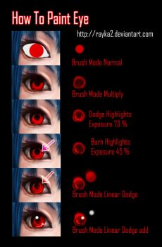 How to Paint eyes in ps by rayka2