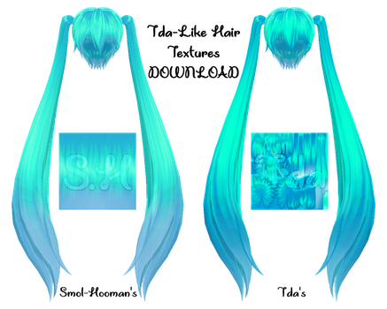[MMD DL] Tda-Like Hair Texture Pack by Smol-Hooman
