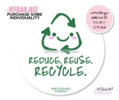 Sticker - Cute Recycling by shiricki