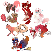 Fortune Pups | Valentines Day! | Pend Auction by KitaSpecies