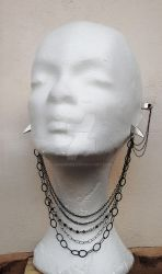 Gothic Necklace style Earrings by Aranwen