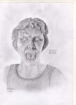 Doctor Who's weeping angel by LaetitiaEvalia