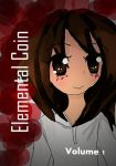 cover for my new manga ELemental Coin V1 by aquakitty101
