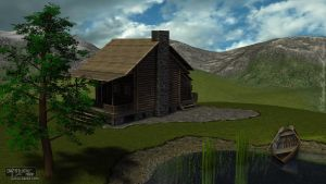 Log Cabin DS MAT Glamor Render by AdamTLS
