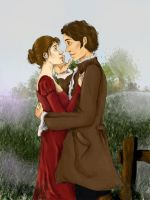 Will and Elizabeth Darcy by dajaflame