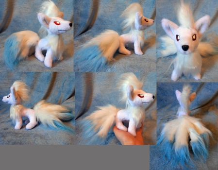 Shiny small Ninetails (up for sale) by Rens-twin