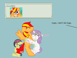 Hugs ask the next gen cmc #5 by mississippikite