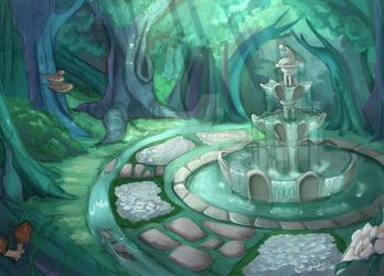 .: Ethereal Fountain :. by Swallow-Memories