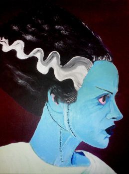 Bride of Frankenstein Acrylic 16x20 by Orion12212012