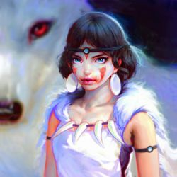 Princess Mononoke by Nad4r