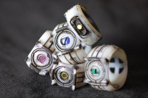 GLaDOS Personality Core Rings by ammnra