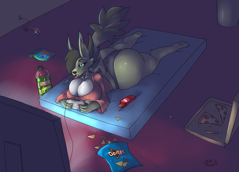 Late Night Gaming by Vant-Talon
