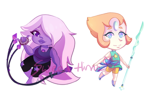 Amethyst and Pearl by Sweet-Hime