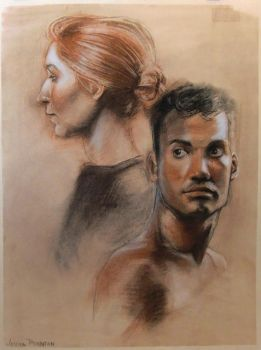 Life-Drawing Portraits, Final by scootersneaks