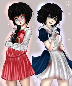 The librarian and The doctor(Misao and Mad Father) by Nibirhu89