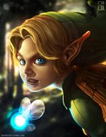 Link - Zelda ocarina of time by raynnerGIL