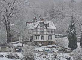 Half-timber house in the winter 2 by UdoChristmann