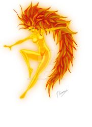Fire spirit by Sombreval