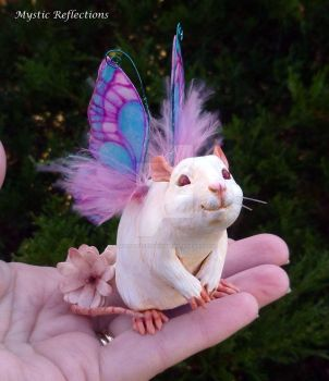 White Rat Fairy by MysticReflections