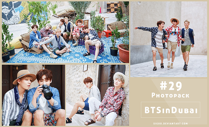 #29 Photopack- BTS in Dubai 55P by Siguo