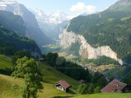Village in the Valley by Tasky