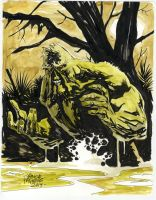 SWAMP THING commission sketch by YanickPaquette