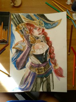 Captain Fortune Watercolour by InweAcaim7