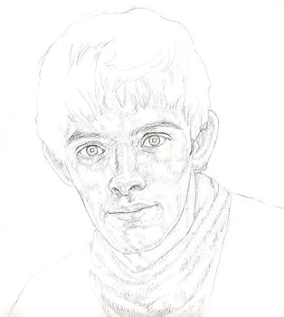 Merlin sketchiness by Maitia