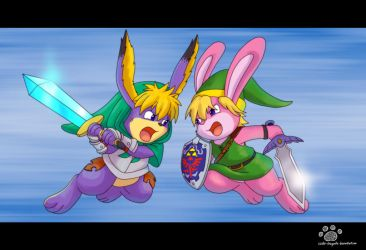 Clash of a Bunny Fight by Coshi-Dragonite