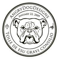 AngryDogDesigns Official Seal by FearOfTheBlackWolf
