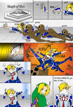 Sheik's P.O.V Temple of time by Humanoid-Magpie