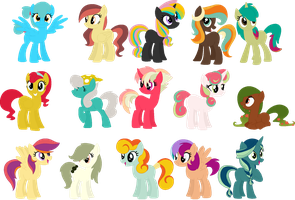 .::Adoptables [11/15 OPEN]::. Femalecolorfulhorses by Frozen--Star