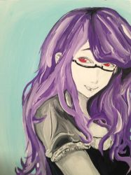 Rize from Tokyo ghoul  by 12rmendez
