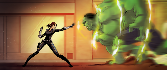 Quake vs Hulk by pungang