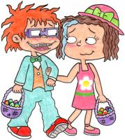 Easter with Chuckie and Lil by nintendomaximus