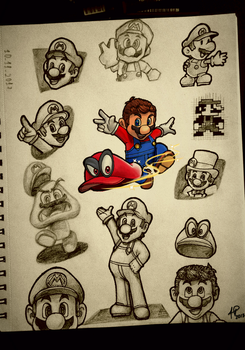 Mario - Skecthbook by 8-HP