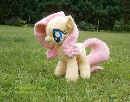 Handmade Fluttershy Plushie by HipsterOwlet