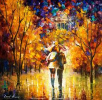 London, Saint James Park, part1 by Leonid Afremov by Leonidafremov