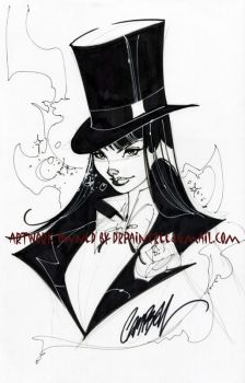 Zatanna Con Sketch by J-Scott-Campbell