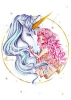 Chibiusa and Pegasus by AlexaFV